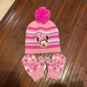 Minnie Mouse Cap and Mittens